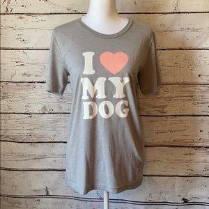 """I love my dog"" Tshirt size Medium"
